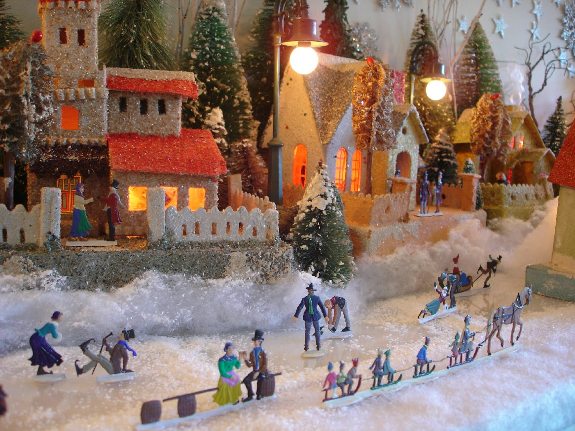 Cardboard Christmas Houses.Welcome To Antoinette Stockenberg S Christmas House Page